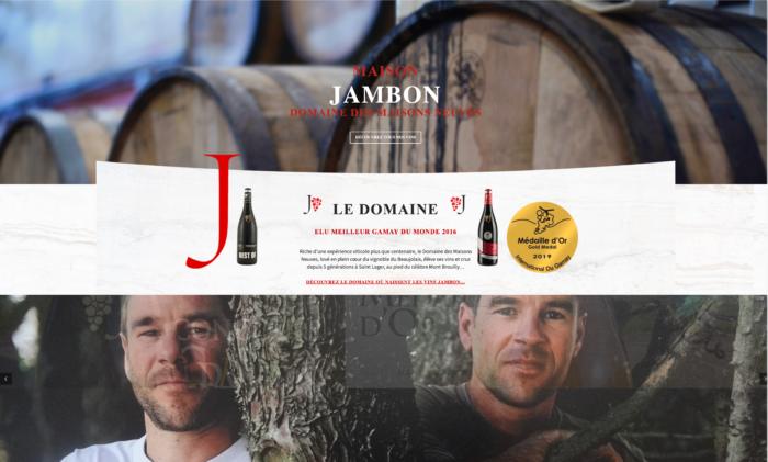 Nouveau site internet Maison Jambon - vinsmaisonjambon.com