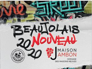 etiquette Beaujolais nouveau graffiti 2020